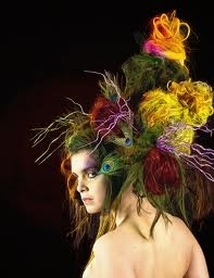 Avant garde has a lot to do with hair pieces as well. love!