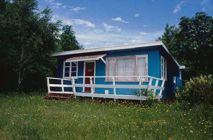 Traditional NZ Baches - Blue