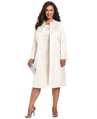 $159.99 also being sold at lord and taylor...Kasper Plus Size Suit, Collarless Jacquard Jacket & Sheath Dress - Plus Size Suits & Separates - Plus Sizes - Macy's