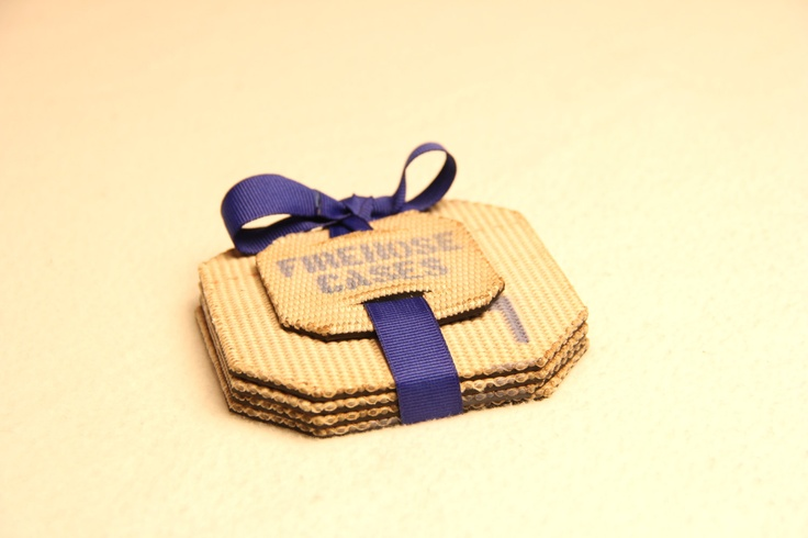 fire hose drink coasters by FirehoseCases on Etsy, $10.00 ****made by my very own firefighter brother!!!