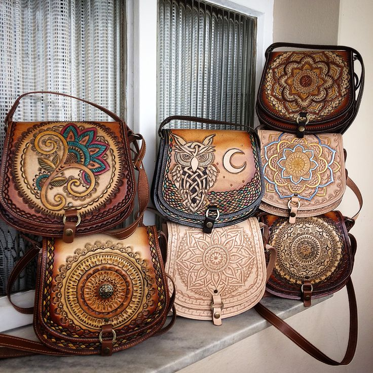 Leather carving  @tipoeubolsas