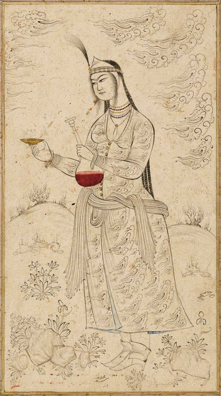 A Persian Miniature painting signed by mohammad yousef dated 1642 Esfahan.