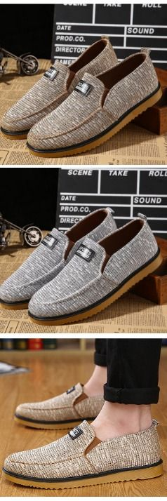 """Men Flats Sneakers Outdoor Slip On Causal Fashion Comfortable Canvas Low Top Shoes - """"Fantastic shoes. Very cheap. Deliverd in time"""".  #sneakers #causalshoes"""