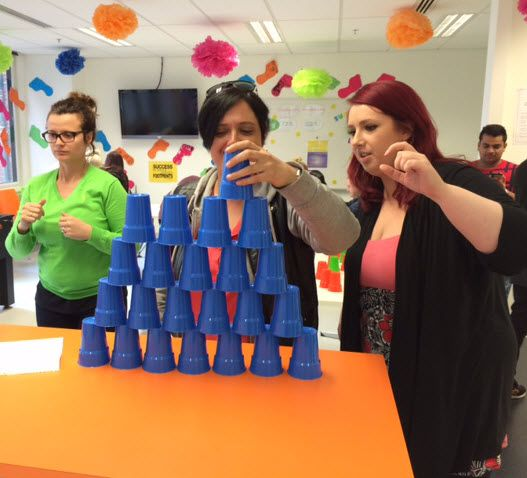 Cups up! Another day, another fun Customer Service Week activity! #csweek #csweek2014