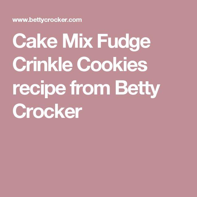 Cake Mix Fudge Crinkle Cookies recipe from Betty Crocker