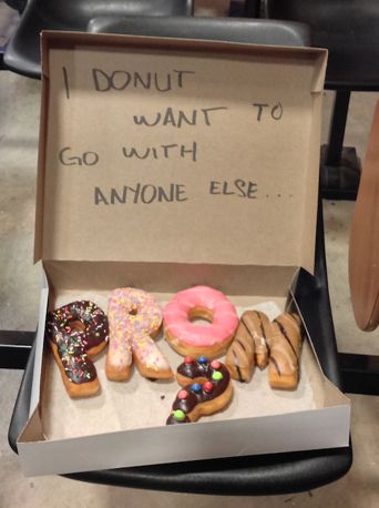 Ask your date to prom with donuts!  www.friartuxprom.com