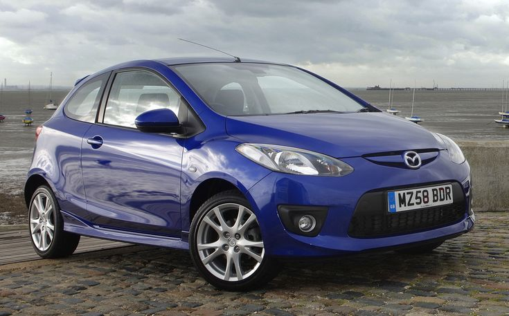 Amazing Mazda 2 in Blue HD Wallpapers