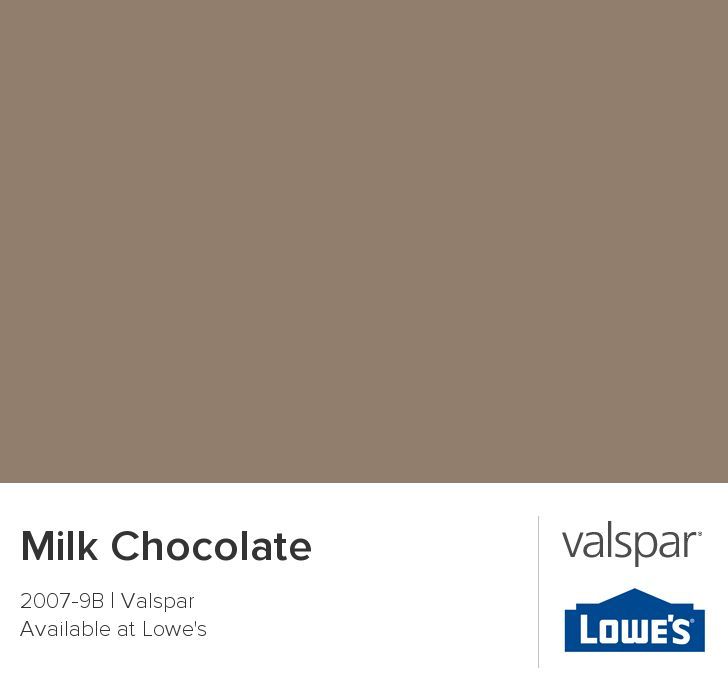 Milk Chocolate From Valspar Paint Colors Pinterest