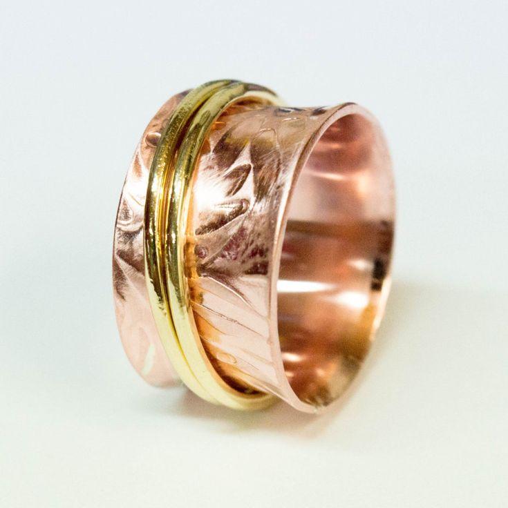 Anxiety ring,Spinner ring,womens ring ,fidget ring , meditation ring , copper spinner ring, 2 bands spinner ring,Spinner ring for women