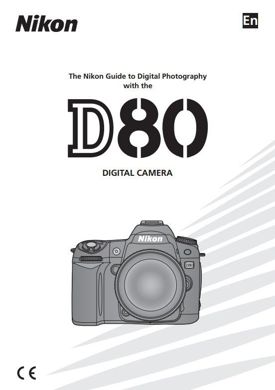 Nikon D80 User Manual this might come in handy since mine was eaten shortly after I got my camera