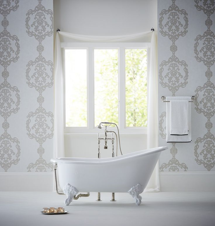 Photo Gallery For Photographers This lovely Kandola wallpaper looks gorgeous in the bathroom