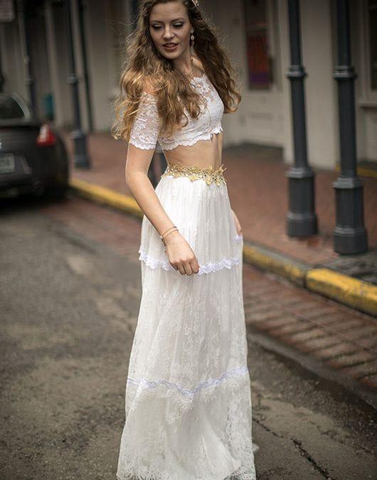 29196f4b205 Crop Top Lace Wedding Dress. Crop Top Lace Wedding Dress Grace Loves ...