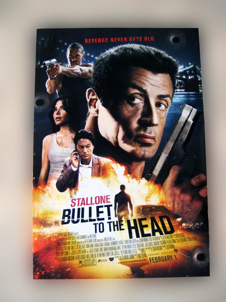 """BULLET TO THE HEAD DOUBLE-SIDED 27x40 THEATER MOVIE POSTER..... These were given to VIP's at the Warner Bros. premier of """"Bullet To The Head"""" starring Sylvester Stallone & Christian Slater. Posters are new, 100% authentic, and are not reproductions, copies or reprints and have never been hung or displayed. www.theonestopfunshop.com"""