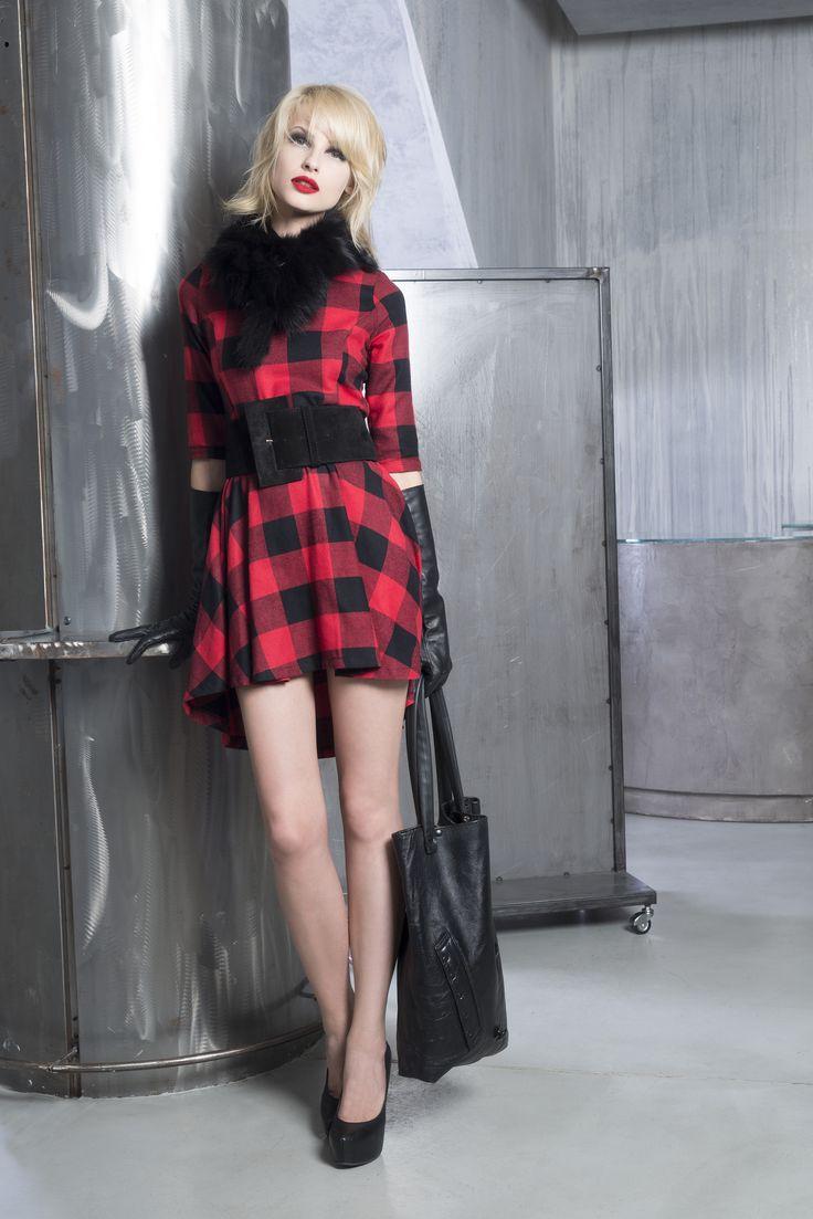 Tartan dress by Sexy Woman