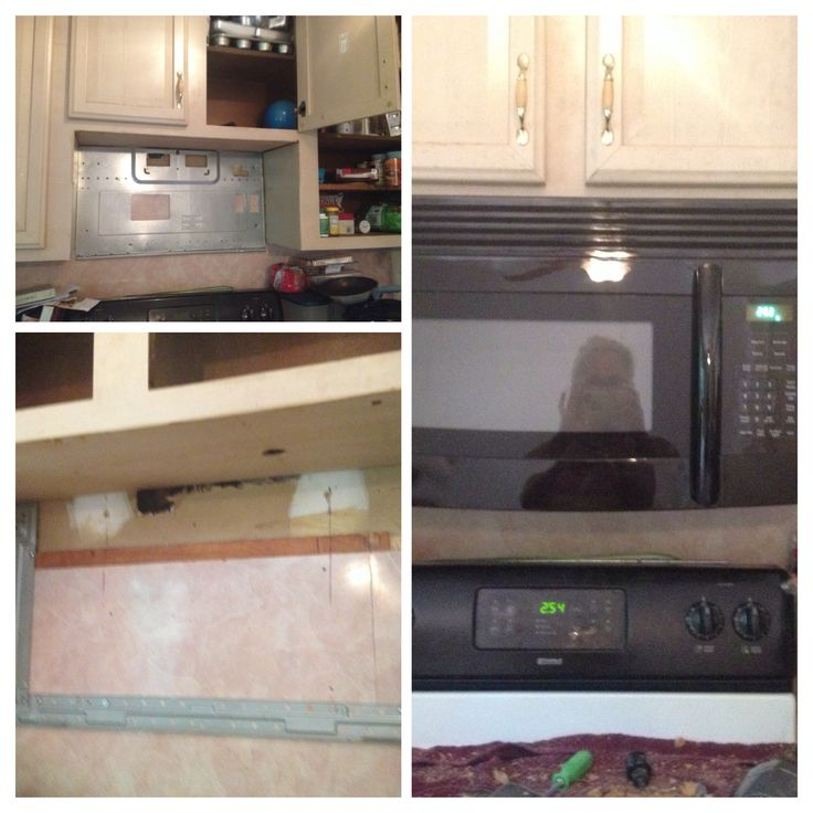 when replacing an over the stove microwave it takes a little bit of drilling and a