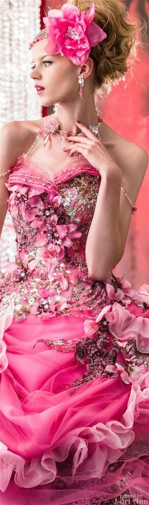 Spring ball gown for celebration of the lunar cycle. Also particularly liked by…