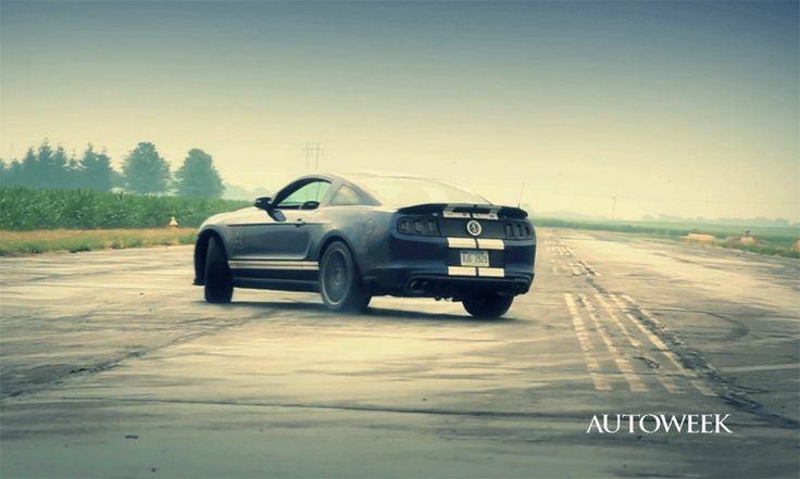 Shelby GT500, Camaro ZL1 and a length of empty asphalt.