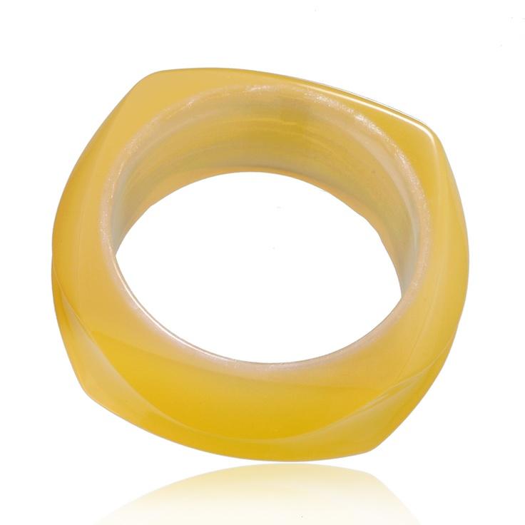 Yellow Square Bangle