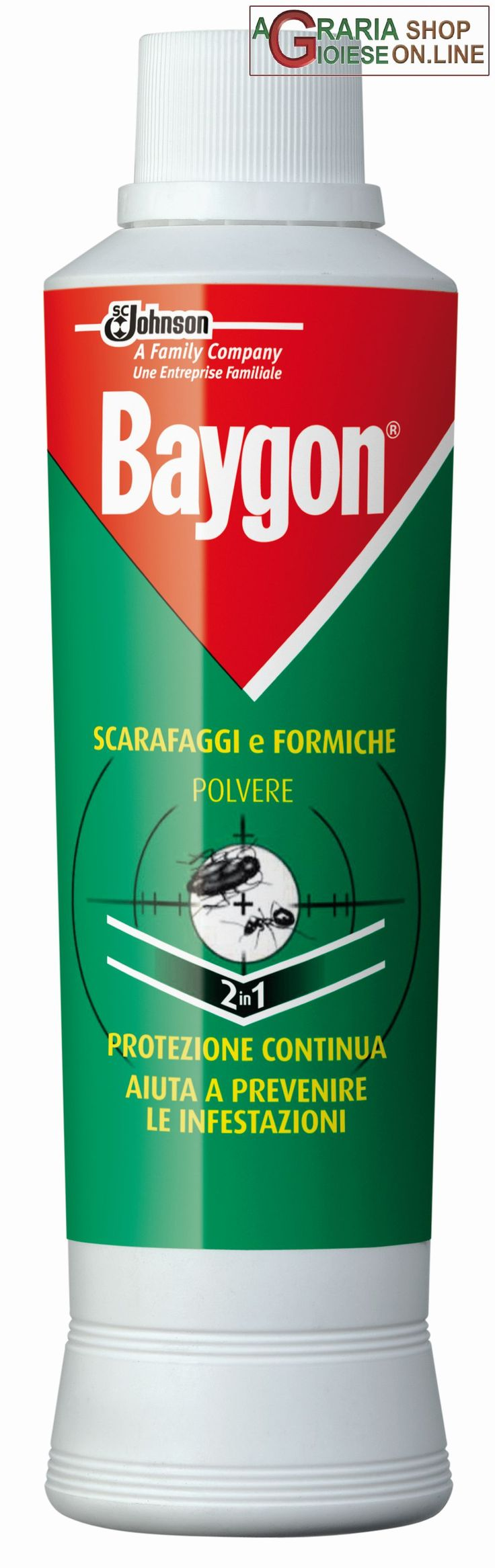 BAYGON POLVERE GR. 250 SCARAFAGGI E FORMICHE https://www.chiaradecaria.it/it/insetticidi-uso-civile/1271-baygon-polvere-gr-250-scarafaggi-e-formiche-8002030142479.html