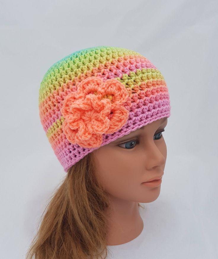 womens crochet hat, girls crochet hat, crochet beanie, woman beanie, cloche, pink hat, vegan friendly, womens beanie, girl beanie by crochetHQ on Etsy