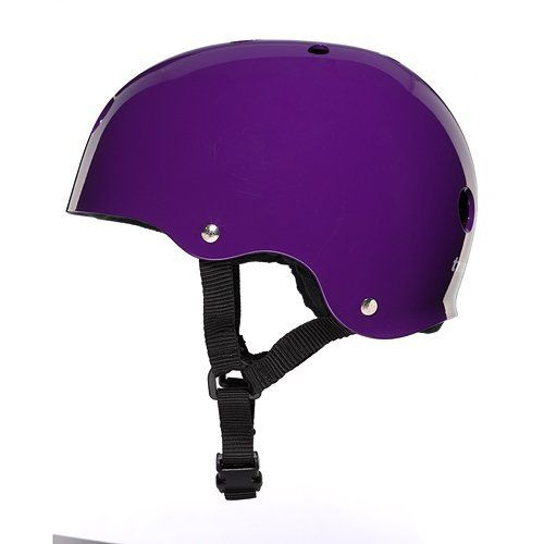 Triple Eight Brainsaver Skate Helmet - Gloss Purple with Black Sweatsaver 2012 M(54-56cm) by Triple Eight. $29.95. Amazon.com                Triple Eight's Brainsaver Glossy Helmet with Standard Liner has been a favorite of athletes in the action sports industry since 1994. With its multi-impact design, the helmet is ideal for skateboarding, long boarding, inline skating, and roller derby use.  Features:  Multi-impact design Adjustable straps Triple Eight customized logo rive...