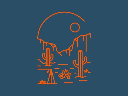 """dribbblepopular: """"Arizona Desert http://ift.tt/2gq5e93 """""""