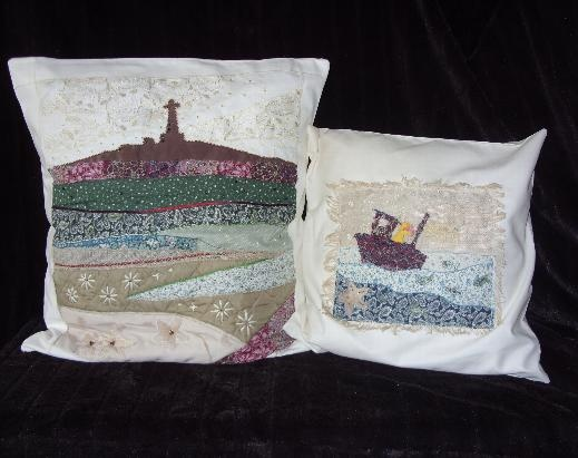 We sell Cornish scenes on cushions as well as commision work.