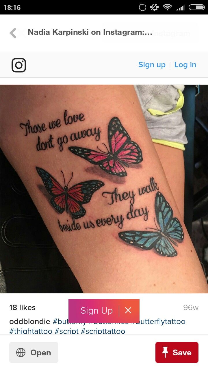 80 crazy and amazing tattoo designs for men and women desiznworld - Tattoo Art Butterflies Forearm Tattoo Those We Love Don T Go Away They Walk Beside Us Every Day