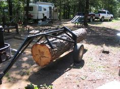log arch | trees on my property, and I log them using a Yamaha ATV and a log arch ...