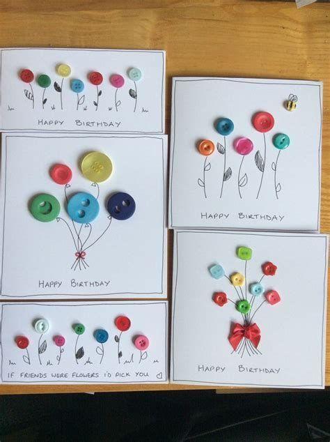 Button Handmade Birthday Cards에 대한 이미지… – #Birthday #Button #Playing cards…