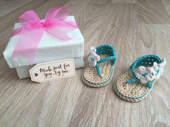 Gehaakte Baby meisje zorgeloos sandalen van StefaniaDA2015 op Etsy