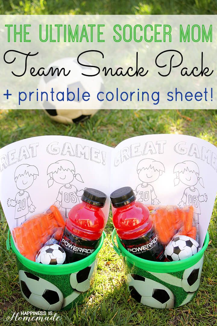 Ultimate Soccer Mom Team Snack Kits and Printable Coloring Sheet 2