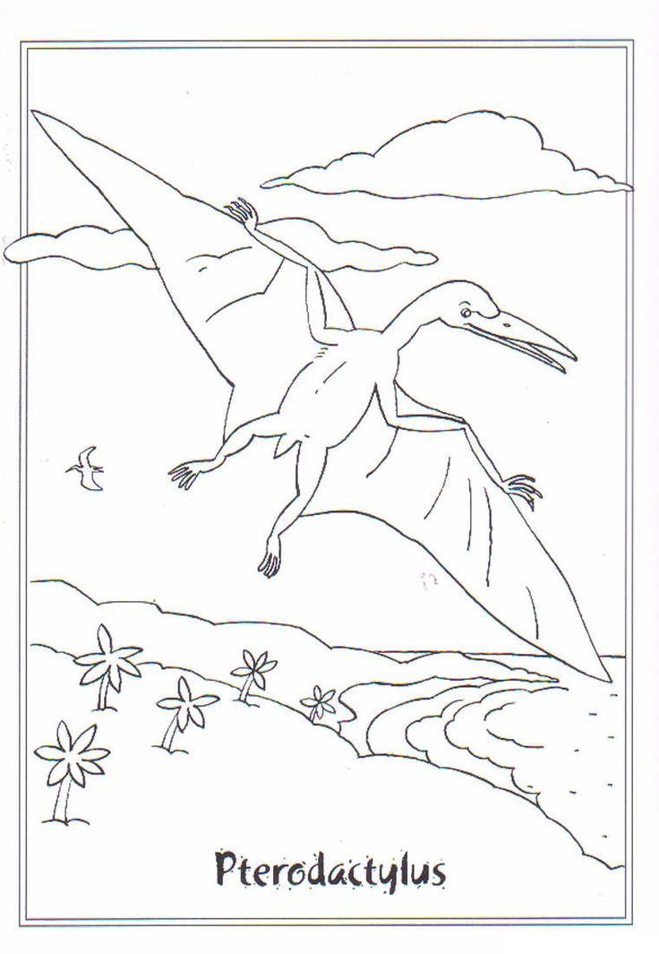 coloring page Dinosaurs 2 - Pterodactylus