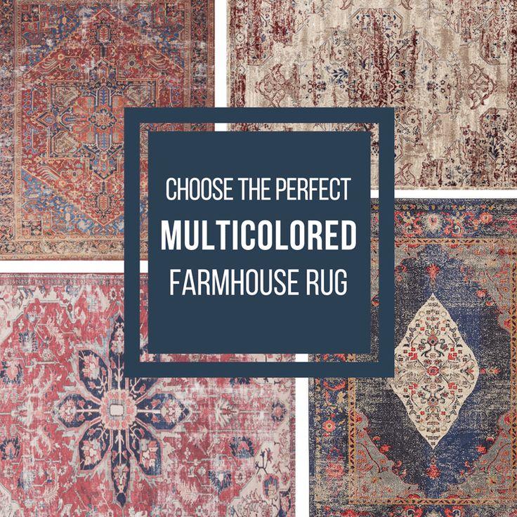 Choose the perfect multicolored farmhouse rug farmhouse