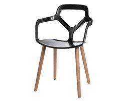 Krzesło Nox Wood czarne kod: DK-41975 - do kupienia: www.superwnetrze.pl