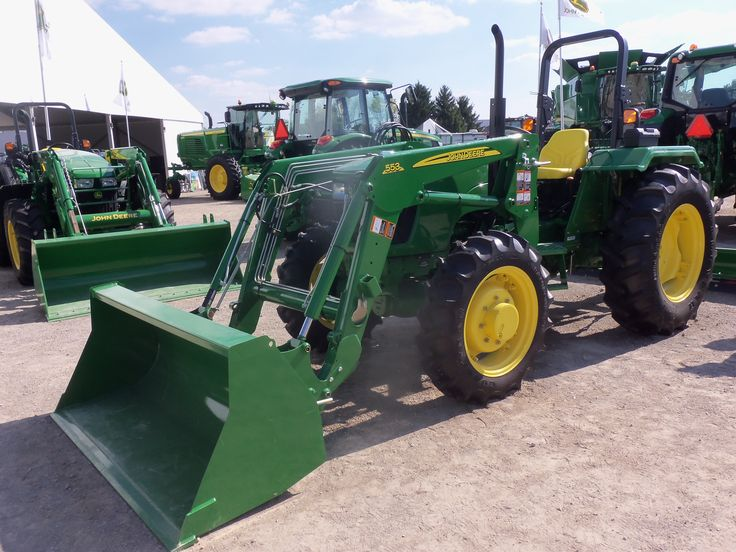 John Deere 5055E 4WD tractor with 553 loader