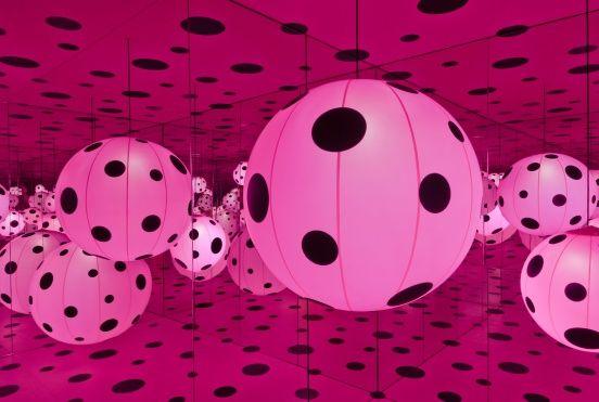 "kusama's ""dot's obsession"" installation"