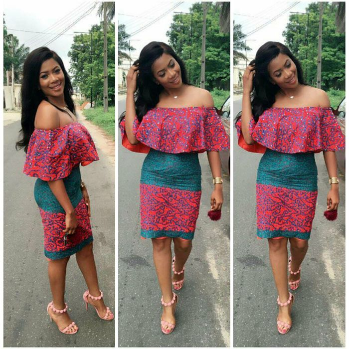 33c22795a Off Shoulder Ankara Short Gown Styles 2018 | Dressing in 2019 ...