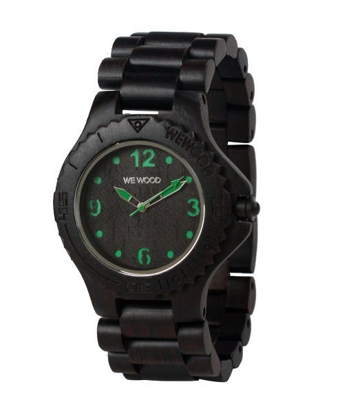WeWood watch DATE KALE choco/green