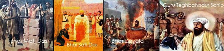 """Photo: """"Hind Ki Chaddar"""" - Guru Teghbahadur Sahib:  The morning of November 11 1675 dawned. Guru Tegh Bahadur's small cage was brought to Chandani Chowk, Delhi. There was a large tree that stood in the middle of the Chowk. The Chowk was a terrifying place this day. There were still the marks of the horrific tortures and Shahidis of Bhai Mati Das, Bhai Sati Das and Bhai Dayala. Amongst the crowd assembled to see the execution was Bhai Jaita, hiding himself so no one could recognize that a…"""