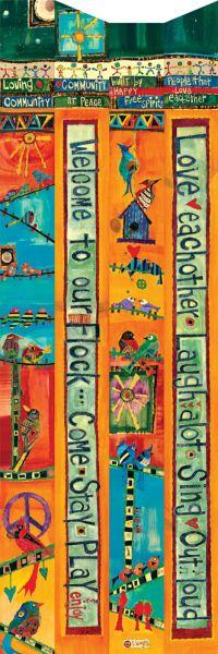 Carolina Creations | Peace Pole Birdhouse Welcome PP233 | Fine Art Contemporary Gift Gallery