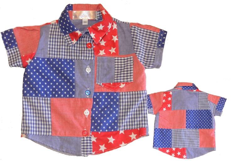 Brick Collared Shirt - cocktailkids: Brick Collars