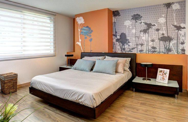 Habitación principal para una joven pareja. Combinación de colores y texturas. Proyecto de apartamentos Alameda en Sabaneta, Antioquia