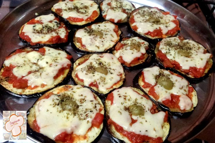 Mini pizzas de berinjela
