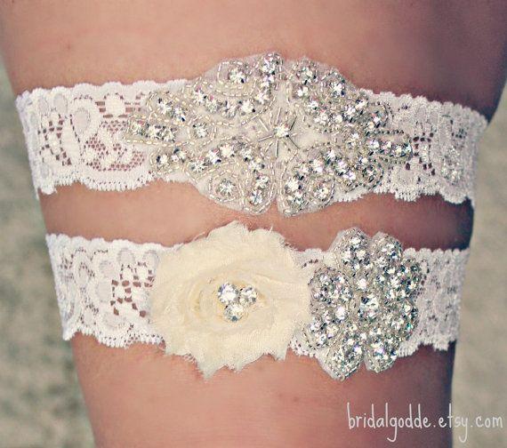 SALE - Wedding Garter Set - Toss Garter - Bridal Garter -Wedding - Bride - Crystal Garter-Rhinestone Garter-Vintage Garter-Vintage Wedding on Etsy, $23.00