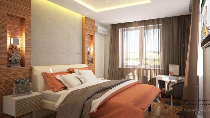 Дизайн спальни в г. Омске 10 лет Октября | Дизайн-студия Дарьи Мисюра