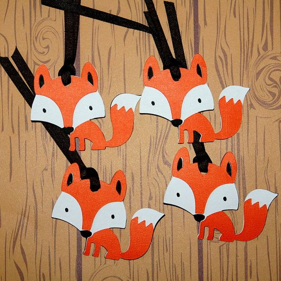 Woodland Creatures Fox Gift Tags
