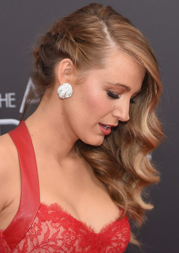 blake lively waves with braid - Google Search