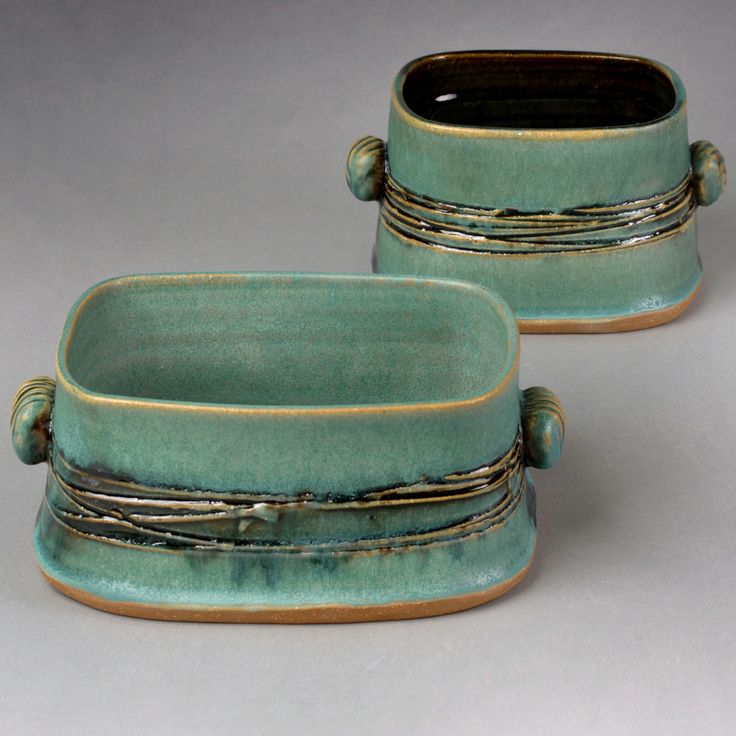 Green Serving Dishes by Yael Shomroni Pottery