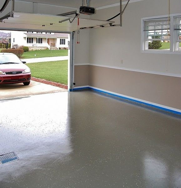Epoxy Garage Flooring Drywall Paint To Turn Your Into An Extra Room For Family